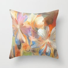Abstract Wild Geraiums Throw Pillow