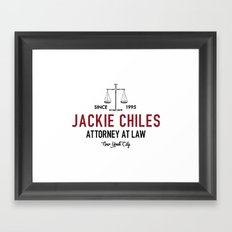 Jackie Chiles - Attorney at Law Framed Art Print