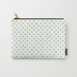 Fun Dots blue green Carry-All Pouch