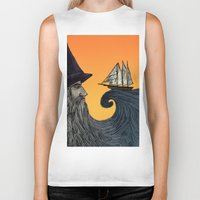 wizard Biker Tanks featuring Wizard by Brittany Rae