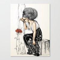 romantic Canvas Prints featuring Romantic by ValD