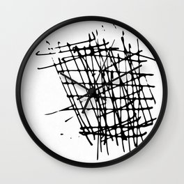 Sketch Black and White Wall Clock