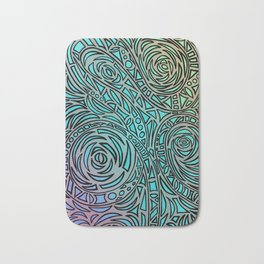 How the river flows - Zentangle Art Bath Mat