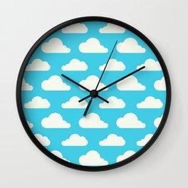 Fluffy clouds Wall Clock