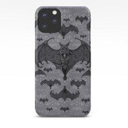 Balinese Bat - Haunted Mansion Damask iPhone Case