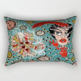 Art Deco Roaring Twenties Flapper Fantasy Rectangular Pillow