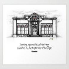 architecture elevation Art Print