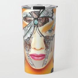Papercollage Inside and Outside by Lenka Laskoradova Travel Mug