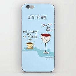 Coffee vs Wine iPhone Skin