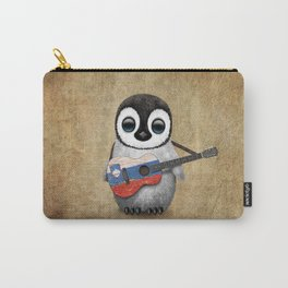 Baby Penguin Playing Slovenian Flag Guitar Carry-All Pouch