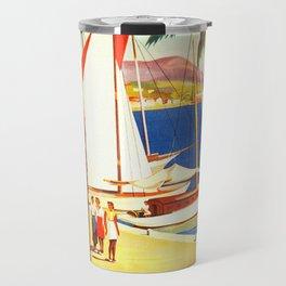 Vintage Bandol France Travel Poster Travel Mug