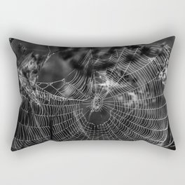 Morning Dew On Spiders Home Rectangular Pillow