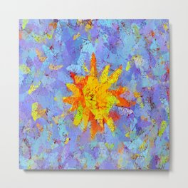 Crinkled Sunshine Metal Print