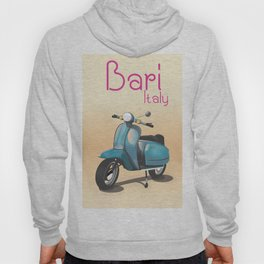 Bari Italy Scooter travel poster Hoody