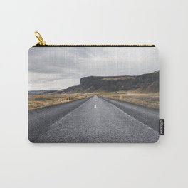 Icelandic Road to Mountains, Landscape Wilderness Adventure Highway Carry-All Pouch