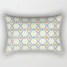 Happy Portuguese Tiles Rectangular Pillow