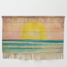 Ocean Sunset 1.0 Vintage Wall Hanging