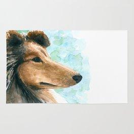 Rough Collie dog Rug