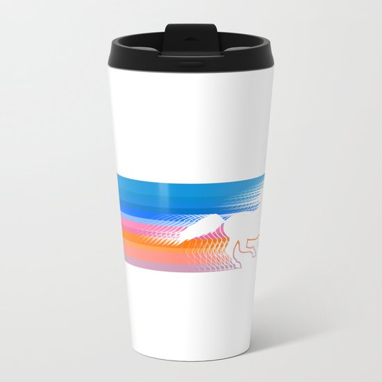 Unicorn Run Metal Travel Mug