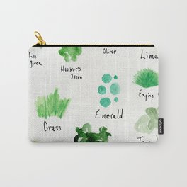Greens -a watercolor collection of shades Carry-All Pouch