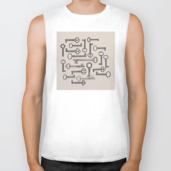 Labyrinth (Grey Version) Biker Tank