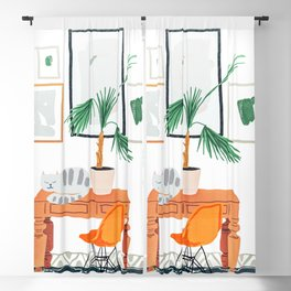 Nap #illustration #animals #decor Blackout Curtain