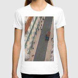 Lisbon Santa Justa Lift, Terra Cotta Roof Classic Car T-shirt