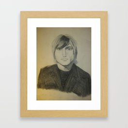 John Rzeznik Pencil Sketch  Framed Art Print