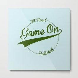 Pickleball Game On! Mt. Hood Metal Print