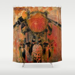 Cafe Racer Shower Curtain