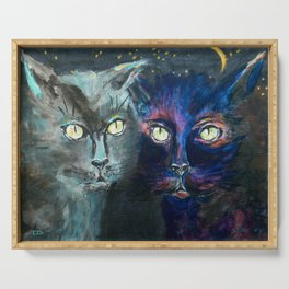 They Meet in the Night (Cats) Serving Tray