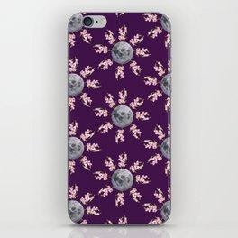 Floral Moon Purple iPhone Skin