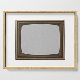 TV White Noise Frame Serving Tray