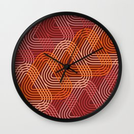 Op Art 104 Wall Clock