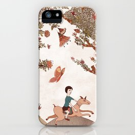 magical forest boy iPhone Case
