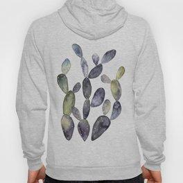 Watercolor violet cactus bunch Hoody