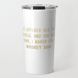 Whiskey Sour Travel Mug