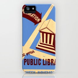 Vintage poster - Book Week iPhone Case