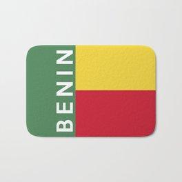 benin country flag name text Bath Mat