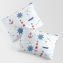 Nautical Collage Pillow Sham