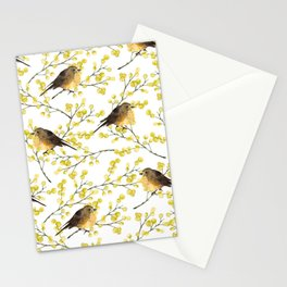 Mimosa and birds Stationery Cards