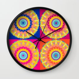 Four Squared medallions Wall Clock