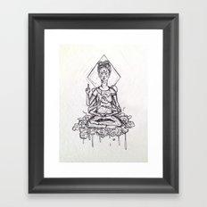 Aggran La Frida Kahlo Framed Art Print