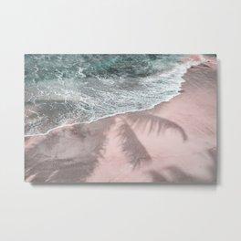 Pink Paradise Beach Metal Print