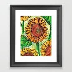 Keep Up Buttercup Framed Art Print