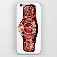nba iPhone & iPod Skins featuring NBA CHAMPIONSHIP BELT by mergedvisible
