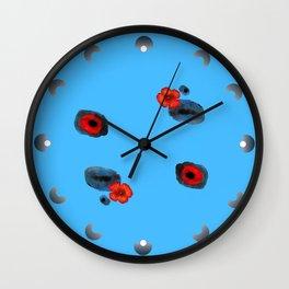 Coquelicot et souvenir bis Wall Clock
