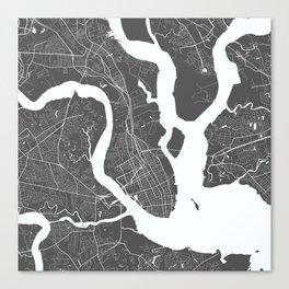Charleston USA Modern Map Art Print Canvas Print