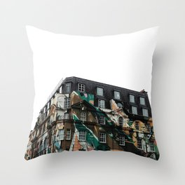 Graffiti on Building in London Throw Pillow