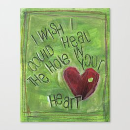 Hole in Your Heart by Seattle Artist Mary Klump Canvas Print